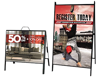 2-sided A-frame steel signs